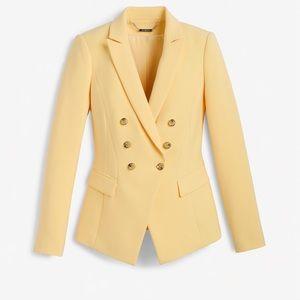 WHITE HOUSE BLACK MARKET canary trophy jacket